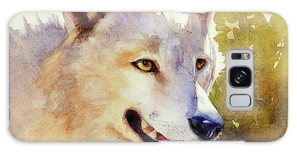 Wolf In Morning Light Galaxy Case