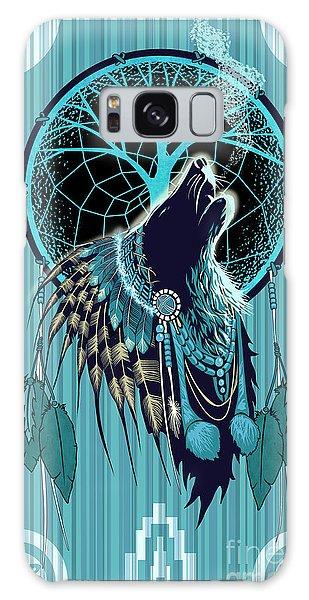 Native American Galaxy Case - Wolf Indian Shaman by Sassan Filsoof
