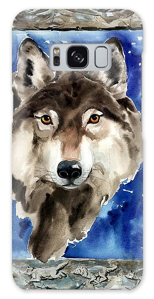 Wolf Galaxy Case by Nadi Spencer