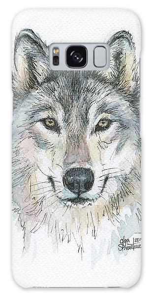 Wilderness Galaxy Case - Wolf by Olga Shvartsur