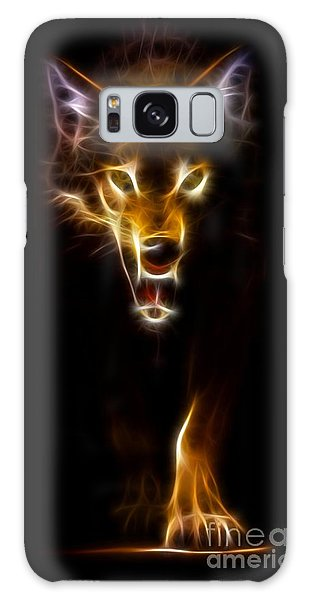 Wolf Ready To Attack Galaxy Case by Pamela Johnson