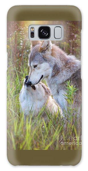 Wolf Soul Mates Galaxy Case