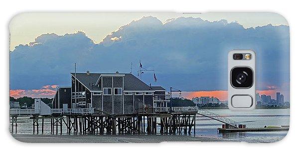 Wollaston Beach Quincy Ma Sunset Boston Skyline Quincy Ma Galaxy Case