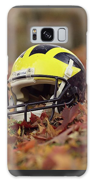 Wolverine Helmet In October Leaves Galaxy Case