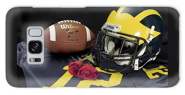 Wolverine Helmet With Roses, Jersey, And Football Galaxy Case