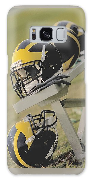 Wolverine Helmets On A Football Bench Galaxy Case
