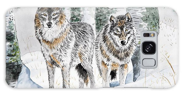 Wolves In The Birch Trees  Galaxy Case