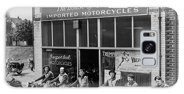 The Motor Maids Of America Outside The Shop They Used As Their Headquarters, 1950. Galaxy Case by Lawrence Christopher