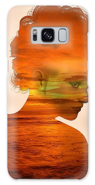 Woman And A Sunset Galaxy Case