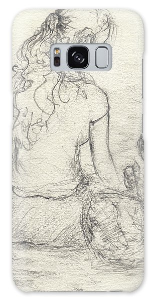 Galaxy Case - Woman And Young Girl At A Fountain by Rachel Christine Nowicki