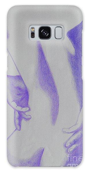 Woman Back Purple Galaxy Case