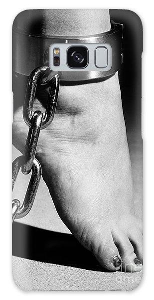 Woman Barefoot In Steel Cuffes Galaxy Case