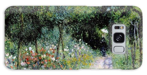 Parasol Galaxy Case - Woman In A Garden by Pierre Auguste Renoir