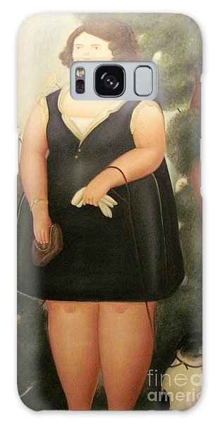 woman in Black Botero Galaxy Case