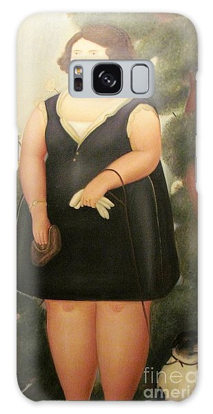 woman in Black Botero Galaxy Case