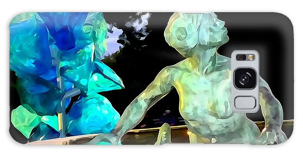 Patina Galaxy Case - Woman In Fountain by Ed Weidman