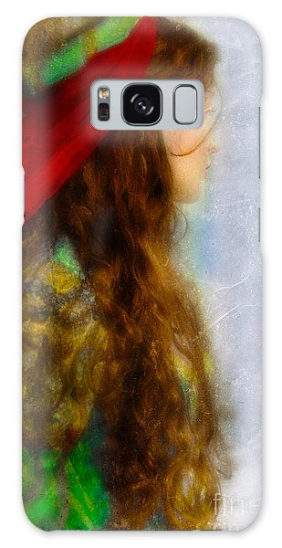 Woman In Medieval Gown Galaxy Case
