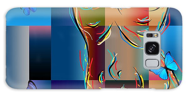 Abstract People Galaxy Case - Woman In Nude Collage  by Mark Ashkenazi