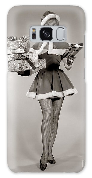 Paper Dress Galaxy Case - Woman In Sexy Santa Outfit, C.1960s by H. Armstrong Roberts/ClassicStock