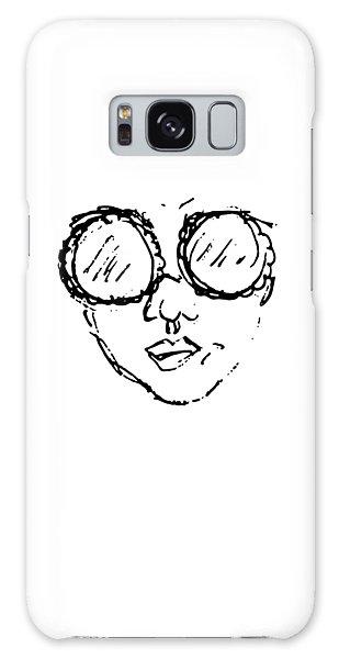 Woman In Sunglasses Galaxy Case
