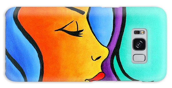 Woman Of Color, Eyes Closed Galaxy Case