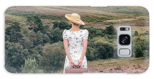 Heather Galaxy Case - Woman On A Hill by Joana Kruse