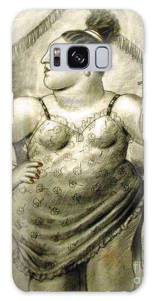 woman performer Botero Galaxy Case by Ted Pollard