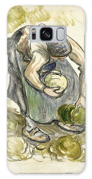 Impressionistic Galaxy Case - Woman Picking Cabbage by Camille Pissarro