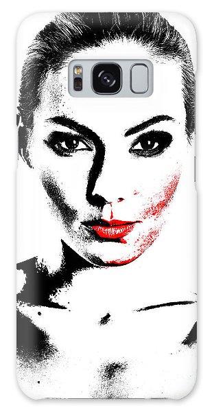 Woman Portrait In Art Look Galaxy Case