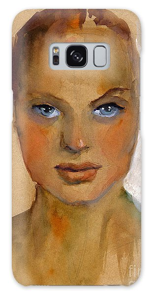 Portraits Galaxy S8 Case - Woman Portrait Sketch by Svetlana Novikova