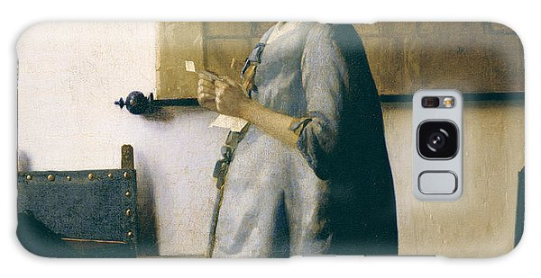 Jan Vermeer Galaxy Case - Woman Reading A Letter by Jan Vermeer