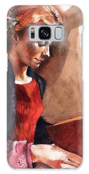 Woman Reading Galaxy Case