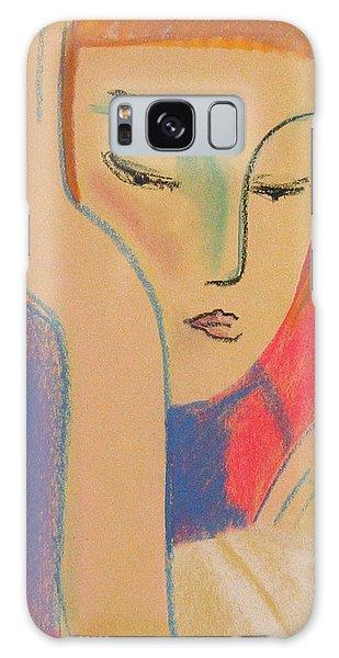 Woman Reading Galaxy Case by John Keaton