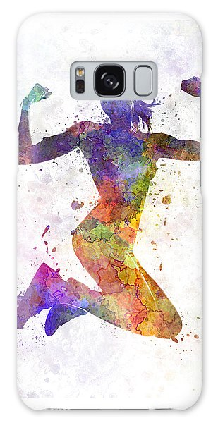 Workout Galaxy Case - Woman Runner Jogger Jumping Powerful by Pablo Romero