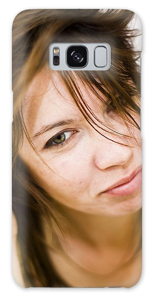 Woman Shaking Her Hair Galaxy Case by Gabor Pozsgai