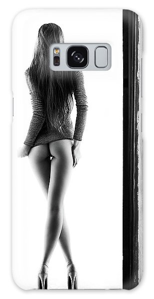 Female Galaxy Case - Woman Standing In Doorway by Johan Swanepoel