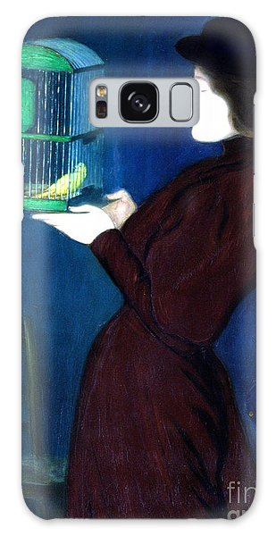 Song Bird Galaxy Case - Woman With A Bird Cage  Detail by Jozsef Rippl-Ronai