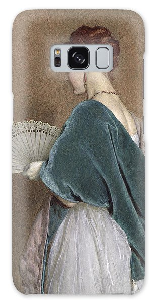 Paper Dress Galaxy Case - Woman With A Fan by John Dawson Watson