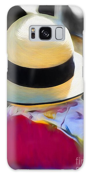 Scarf Galaxy Case - Woman With A Hat And Scarf by Susan Lafleur