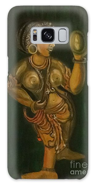 Woman With A Mirror Sculpture Galaxy Case