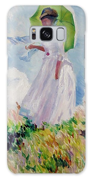 Woman With A Parasol Galaxy Case