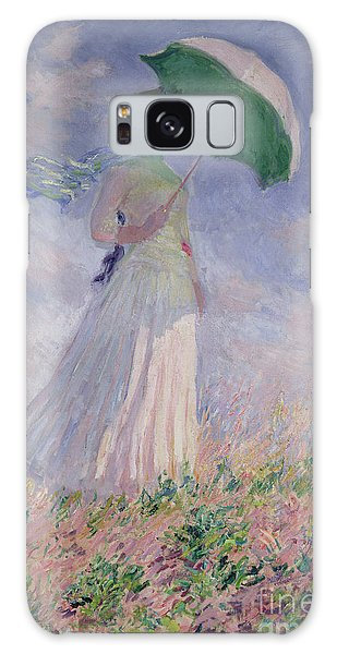 Woman Galaxy Case - Woman With A Parasol Turned To The Right by Claude Monet