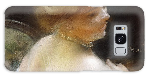 Girl With A Pearl Earring Galaxy Case - Woman With A Pearl Necklace by Paul Albert Besnard