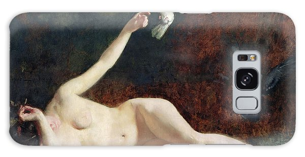 Woman With Pigeons Galaxy Case by Ernst Philippe Zacharie