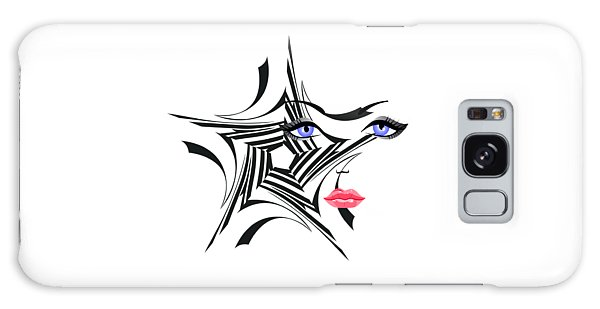 Woman With Star Design Galaxy Case by Christine Perry