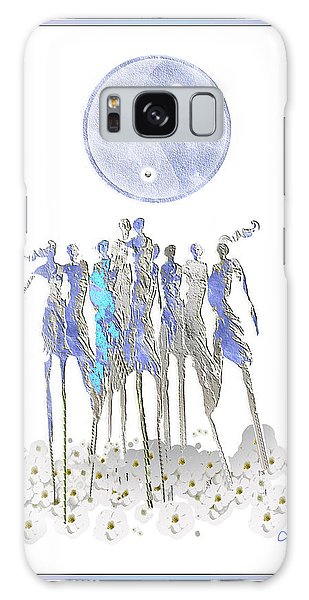 Women Chanting - Full Moon Flower Song Galaxy Case
