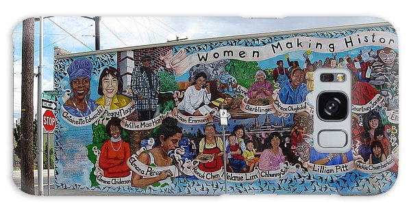 Women Making History Mural Galaxy Case by Marlene Rose Besso