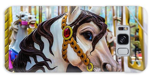 County Fair Galaxy Case - Wonderful Carrousel Horse Portrait  by Garry Gay