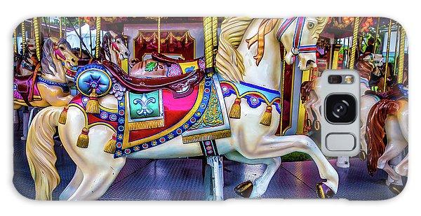 County Fair Galaxy Case - Wonderful Carrousel Horse Ride by Garry Gay