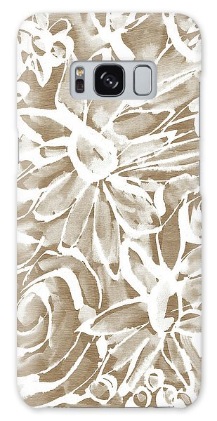 Wood And White Floral- Art By Linda Woods Galaxy Case by Linda Woods